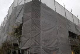 外壁塗装工事現場進行中!