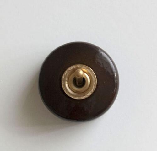 陶器スイッチ ブラウン 6,380円