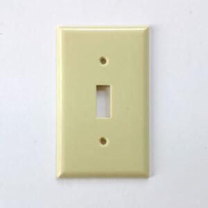 プラスチック 1口 スイッチプレート ベージュ 250円(税別)