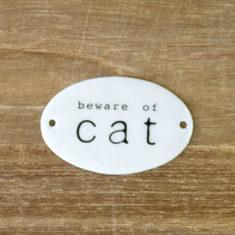 エナメルプレート<cat> 200円(税別)