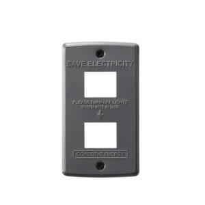 STEEL Switch plate 2穴<GY>  900円(税別)