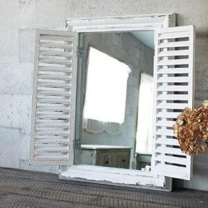 ANCIENT WINDOW FRAME MIRROR WHITE 16,500円