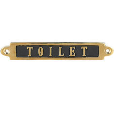 BRASS SIGN TOILET  900円(税別)