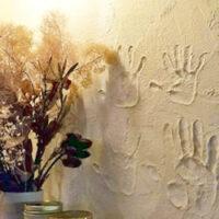 リビングの塗り壁