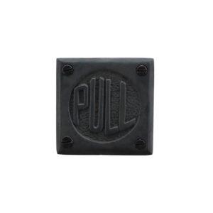 ドアサインブラックPULL 990円