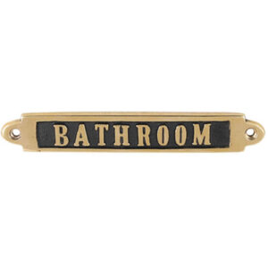 BRASS SIGN BATHROOM 990円